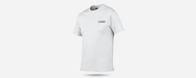 全棉圆领短袖T恤衫