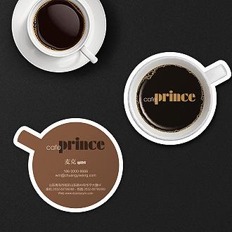 咖啡造型艺术名片印刷