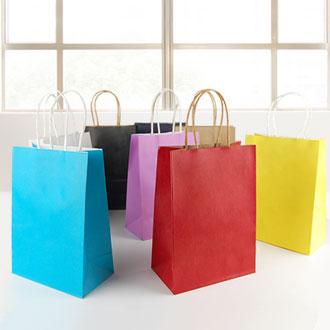 彩色牛皮紙手提袋 -- 帆布袋 紙袋  塑料袋 無紡布袋  購物袋 廣告袋 禮品袋 現貨手提袋