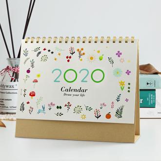 韩式文艺清新台历印刷