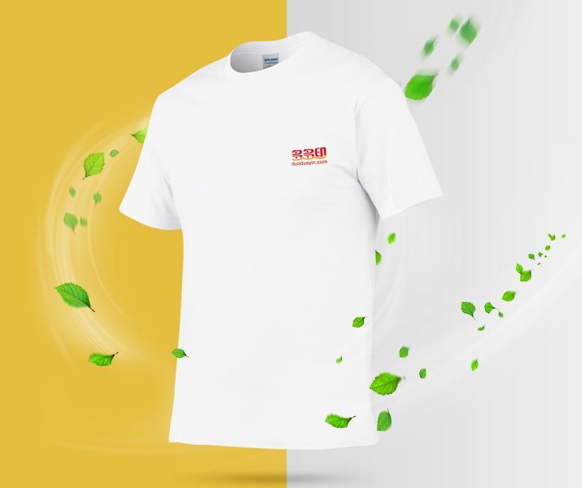 自然舒适的文化衫——全棉圆领短袖T恤衫