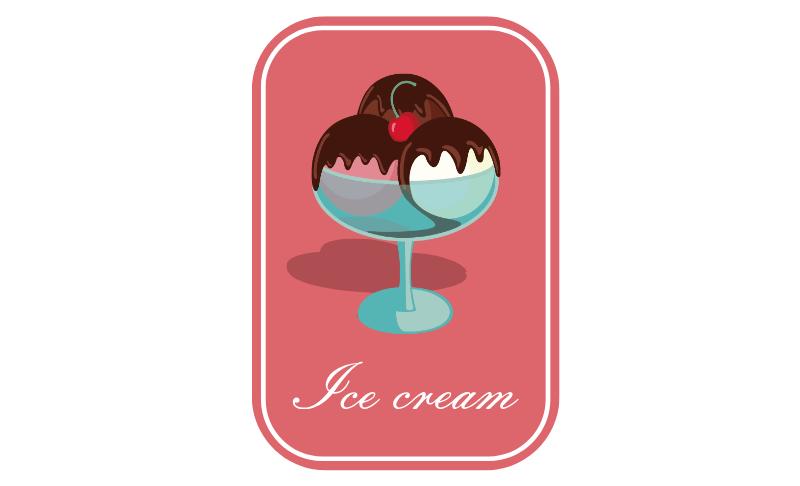彩色冰淇淋标签