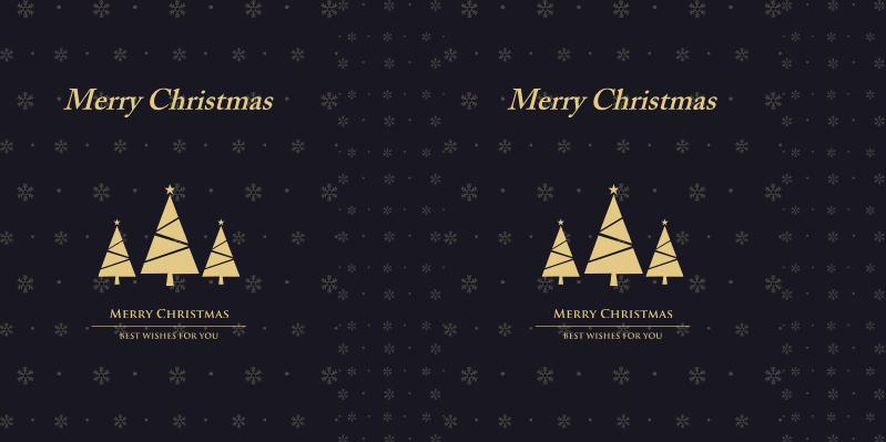 黑色大气时尚圣诞节手提袋
