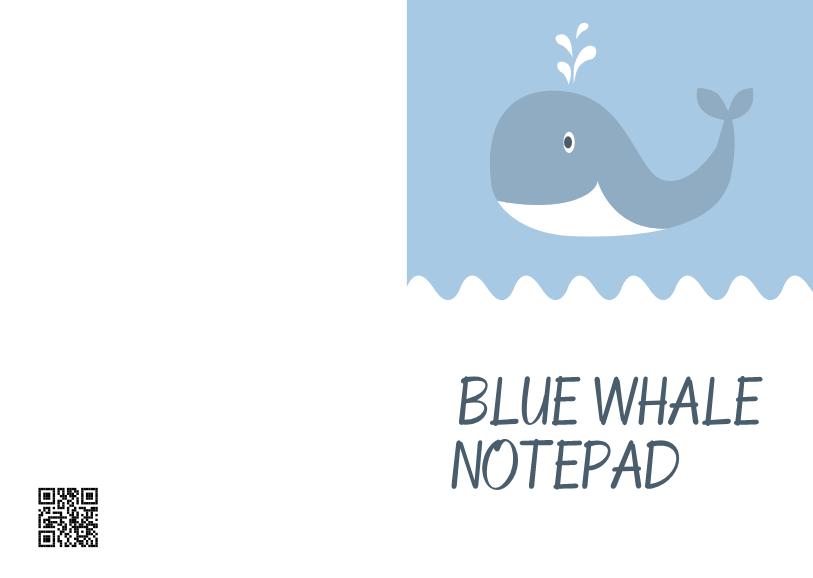 蓝色鲸鱼记事本