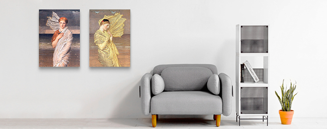 油画布木框挂画