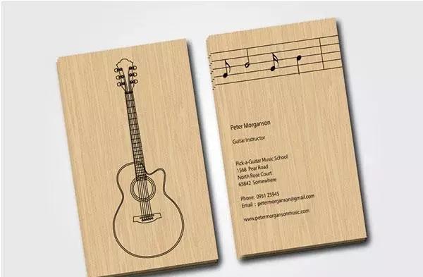 音乐行业名片 吉他