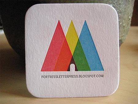 彩色三角名片