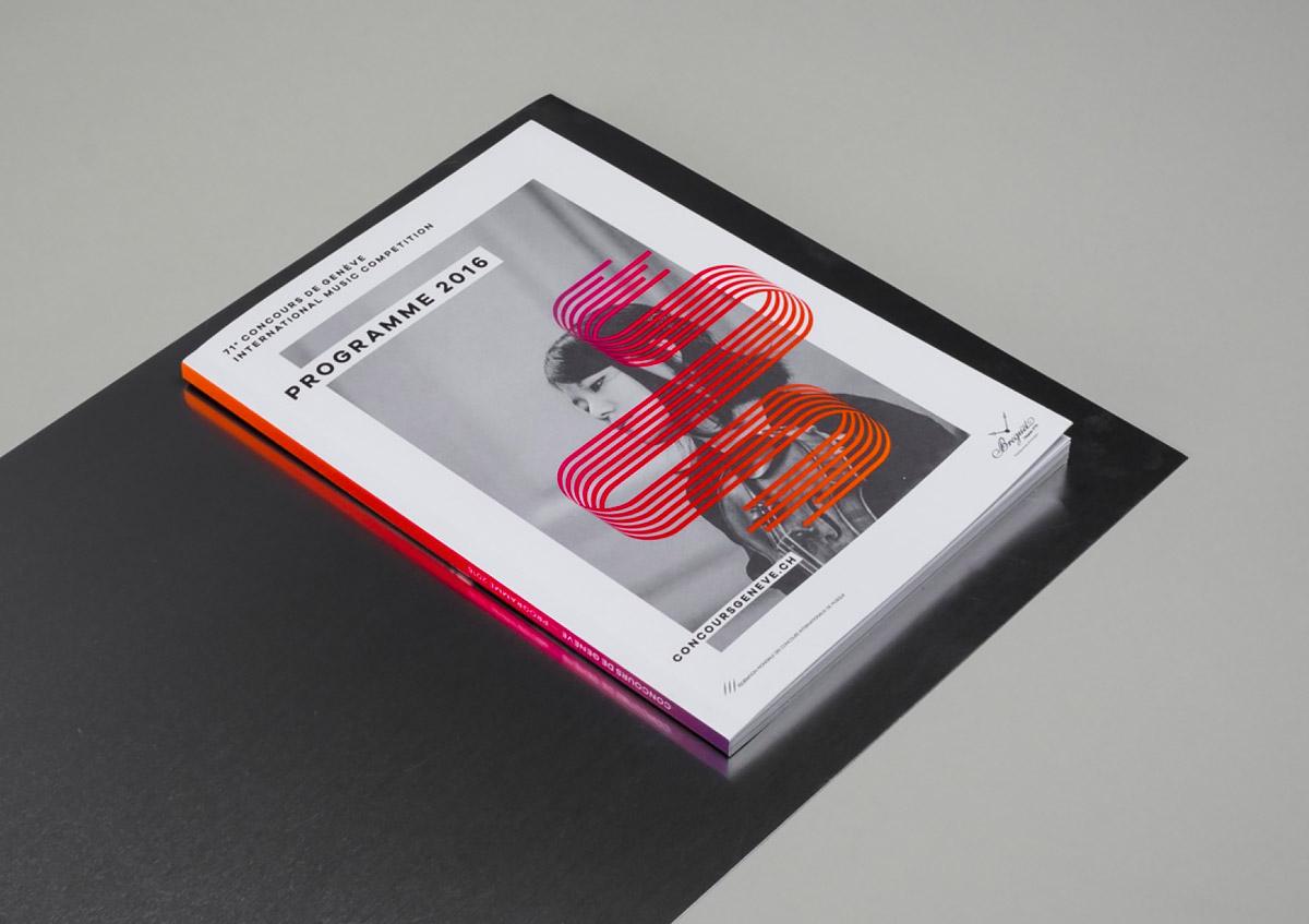日内瓦国际音乐大赛海报和宣传册设计