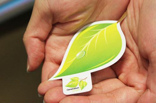 漂亮的绿色名片设计