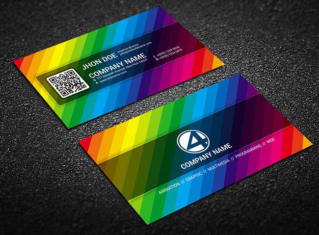 6张彩虹一般的名片设计欣赏