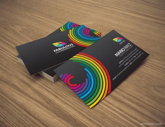 7张彩虹一般的多彩名片图片