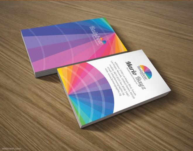 6张彩虹般好看的名片设计图片