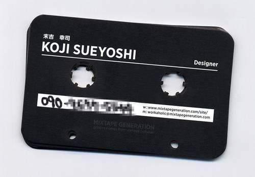 磁带镂空名片