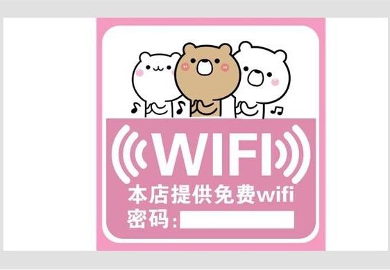 店铺WiFi提醒贴纸